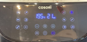 display der cosori xxl